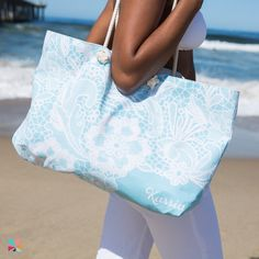 #ErinCondren Oversized tote in #Lace. Available in 4 colors!