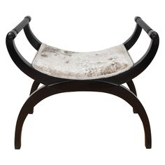 Gorgeous Mid-Century Modernist Bench or Stool in Oyster Gauffraged Velvet |  #SM #thefamiliarexotic #mypicks