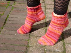 Handgebreide wollen sokkensneaker sokken frisse door AnnemiekeA, $39.00