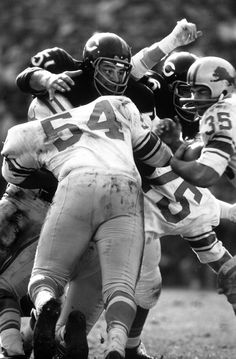 Dick Butkus in action during his rookie season with the Bears in 1965. - - - Dick Butkus in 1965: The Baddest Rookie the NFL Has Ever Seen | LIFE.com