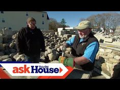 How to Cut and Shape Stones | Ask This Old House - YouTube Roofing Services, Roofing Contractors, Stone Raised Beds, Building A Stone Wall, Concrete Sculpture, Stone Masonry, New Brighton, Old Stone, Old Houses