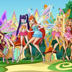 Winx 4x1 Enchantix in Pixie Village