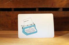 Typewriter Thank You card.