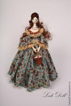 Девушка с корзинкой - тряпиенс,тряпиенсы,корейская кукла,интерьерная кукла
