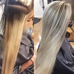 Color correction this afternoon on this head full of hair!! Her old hairdresser would do a full foil on her, cut and bd in 45 minutes.. as you can see the results showed in a banded underprocessed blonde I did a lowlight highlight and shadow root to even everything out and make for a muuuch softer grow out. It's so important for me as a stylist to make sure whatever we do that day will translate for weeks to come. You don't want your hair to look fantastic for only a week. Longevity is…