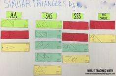 Similar Triangles Cut and Paste Activity mrseteachesmath.blogspot.com