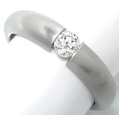 Neu! Platin-Brillant-Spann-Ring massiv! Luxus Portofrei - Gold, Platin Schmuck…
