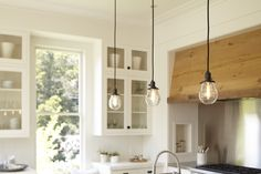 Rejuvenation's Baltimore #Light #Fixture with #Clear Pear Shades