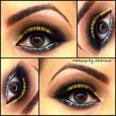 Mac Shadows: Chrome Yellow, Carbon, & Saddle. Find me on Facebook & Instagram: Makeup by Sharona