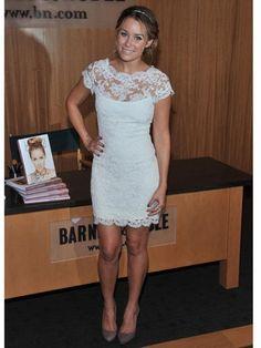 perfect white lace dress  fashion-hair