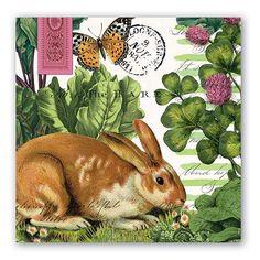 Garden Bunny Luncheon Napkins from Because I Like U