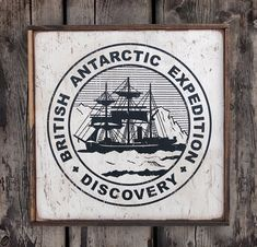 NEW Vintage wooden sign ' Discovery Emblem ' by VASSdesign on Etsy