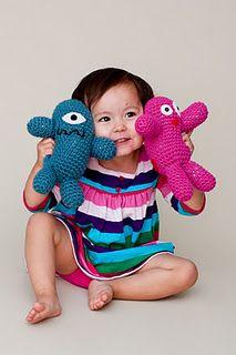 free crochet pattern!  #crochet #monster #amigurumi #free #pattern
