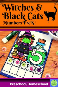 These Witches & Black Cats Number Lessons are the perfect addition for Math Centers for homeschool/preschool. This time saving, leveled resource is engaging with its vibrant pictures and stimulating content! Your multi-aged 4-6 year old children will enjoy learning about Halloween and numbers with these interactive lessons. Halloween Math, Halloween Activities, Halloween Witches, Halloween Ideas, Morning Activities, Cat Activity, Number Activities, Numbers Preschool, Step Kids