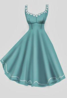 Rockabilly Lace flower Dress