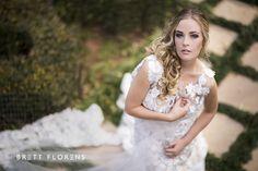 Weddings Beautiful Bride  Couture Dress Romance Lace Brett Florens Photography