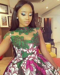 Gorgeous cut out ankara dress