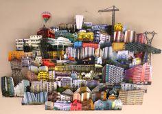 Mathilde Nivet collage de papier pop-up