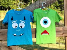 Monster's INC Sully and Mike shirts by TheCricketsCorner on Etsy, $20.00
