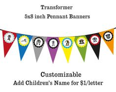 Transformer party banner