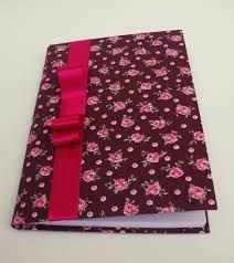 Resultado de imagem para artesanato capa de caderno em tecido