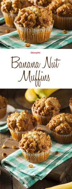 Try these mouthwateringly-moist Banana Nut Muffins! They'll go quick!