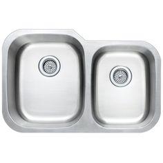 KE Stainless Steel Sink Kitchen Undermount Offset Double 16 Gauge 4060