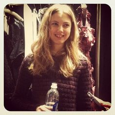 Naturally @lindseywixson is all smiles #nyfw #fashion #models