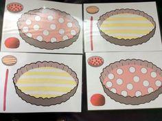 Plasticinekaarten: oma bakt hele lekkere taarten! *liestr*
