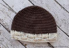 Basketweave Brim Beanie Crochet Pattern