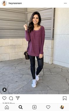 It was definitely an athleisure kinda day! My sweatshirt is on sale today and has the cutest knotted back! In case ya missed it I'm talking… Athleisure, Normcore, Leggings, Pullover, Mom, Sweatshirts, Cute, Sweaters, Outfits