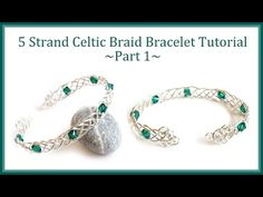▶ Jewelry Tutorial : How to Make a Celtic Weave Bracelet - 5 Strand Braid Wire Wrapping - YouTube