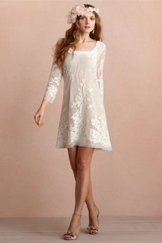 BHLDN Daisy Doll Dress // short wedding and reception dress Boho Dress, Lace Dress, Dress Up, White Dress, White Lace, Pretty Dresses, Beautiful Dresses, Bridal Gowns, Wedding Gowns