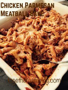 Chicken Parmesan Meatball Bake