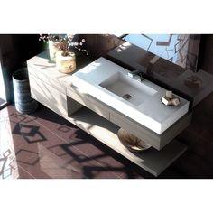 Lavabo de baño con encimera Elegance Silestone by Cosentino - OcioHogar.com