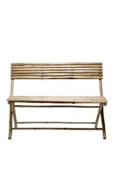 Bamboo bench - Plümo Ltd Bamboo Furniture, Diy Furniture, Outdoor Furniture, Outdoor Decor, Bamboo House, Bamboo Fence, Bamboo Crafts, Bamboo Design, Nature Decor