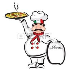 pizza cartoon: Chef