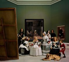 'Las Meninas renacen de noche V: Drawn by a distant light, awaken to the darkness', 2013
