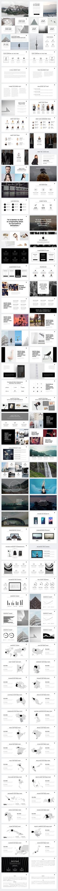 Ghost Minimal PowerPoint Template on Behance