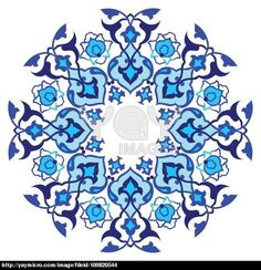 blue artistic ottoman pattern series sixty