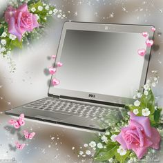 Silver and Pink Background~~J Photo Frame Wallpaper, Framed Wallpaper, Laptop Wallpaper, Flower Wallpaper, Wallpaper Backgrounds, Beautiful Flowers Images, Flower Images, Best Quotes Images, Page Borders Design