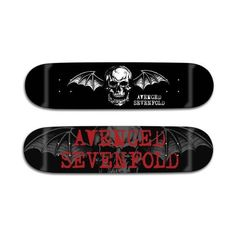 Avenged Sevenfold - Logo Skate Decks ($60) ❤ liked on Polyvore featuring avenged sevenfold, band merch and skateboard