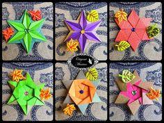 Origami Maniacs 281: Mariela's Star (5 Variations) - YouTube