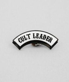 Lazy Oaf Cult Leader Pin Badge #fashion #style #accessories