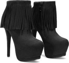 I love high heels and I love boots, so it's great to combine the two. Also I love the fringe
