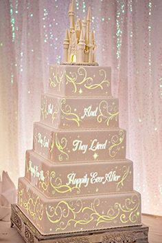 In case you needed another reason to get married at Disney, here's a new one: the wizards over at Disney Enterprises just unveiled new technology for an animated wedding cake. | Disney Just Invented The Coolest Wedding Cake Ever