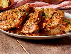 I'm checking out a great recipe for Pork Chops a la Madrid from Taste of Spain at Kroger!