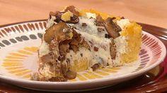 polenta crust sausage mushroom cheese pizza bake in spring form pan oxox...