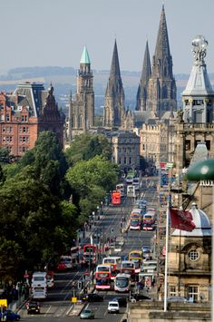 Princes Street - Edinburgh, Scotland. The main street where our hotel was. We could walk to most tourist sites.