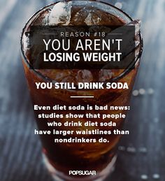 weight loss after no diet soda